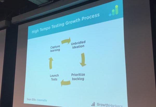 8 - Growth Process Starts w: building a big backlog of ideas 2.deciding on tests, 3.capturing learning from tests